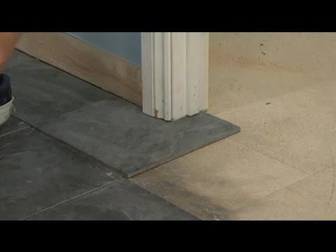 How to Install Floor Tile Around Door Casings & Jambs
