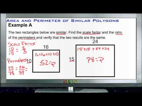 Area and Perimeter of Similar Polygons: Examples (Basic Geometry Concepts)