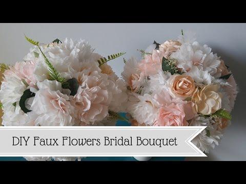 DIY Bridal Bouquet- Faux Flowers