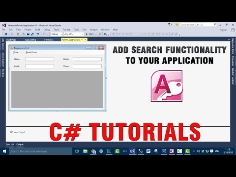 C# Tutorials - Add Search Functionality to your Access application
