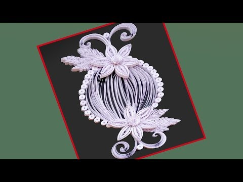 Paper Quilling | How to make Beautiful Flower Design birthday Greeting cards  |Paper Quilling Art