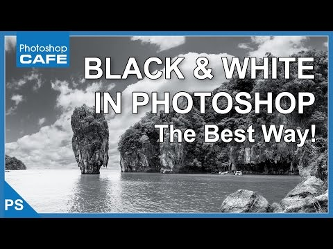 MAKE BLACK AND WHITE PHOTOS IN PHOTOSHOP TUTORIAL