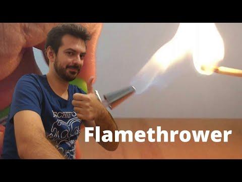 DIY MINI FLAMETHROWER FROM LIGHTER