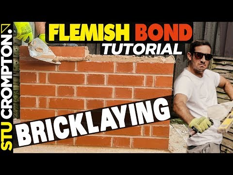 how to build a brick wall in flemish bond- bricklaying
