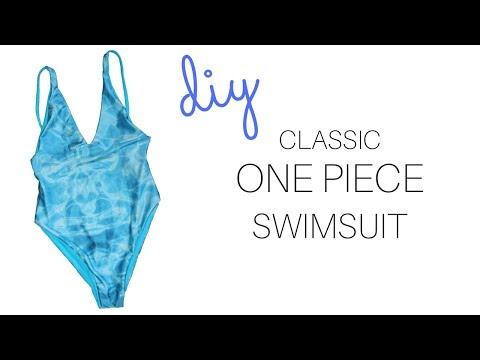 DIY Classic One Piece Swimsuit    Katie Fredrickson