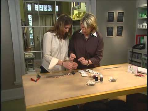 How to Make a DIY Pearl Button Necklace ⎢Martha Stewart
