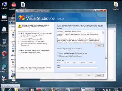 Visual Studio 2008 Kurulum