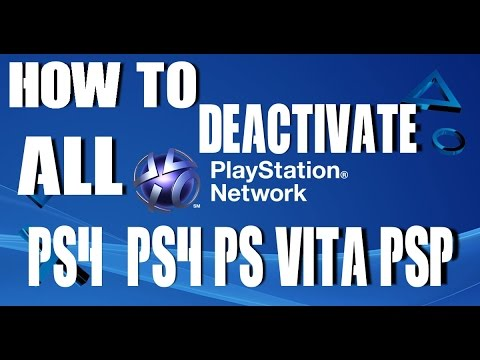 Deactivate ALL Primary PSN Console Via PC Tutorial Website Link PS4 PS3 PS Vita