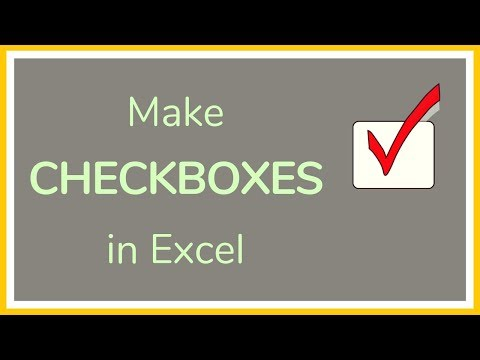 How to Make Checkboxes in Excel / How to Add Checkboxes in Excel - Tutorial