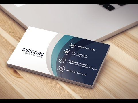 Business card design in photoshop cs6 | Back | Blue