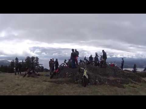 Trials bike fun. Saltspring Island. Steep ! Mar 2018
