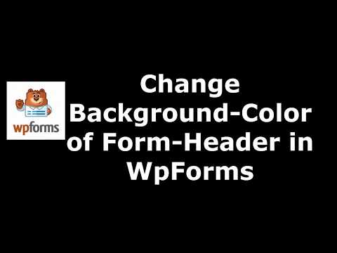 Free Plugin to Set Form Header Background Color in WpForms