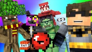 Minecraft Mini-Game : DO NOT LAUGH! (THE ROSSOME TREE & RED THE HULK) w/ Facecam