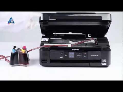 Установка СНПЧ на МФУ Epson Stylus NX330