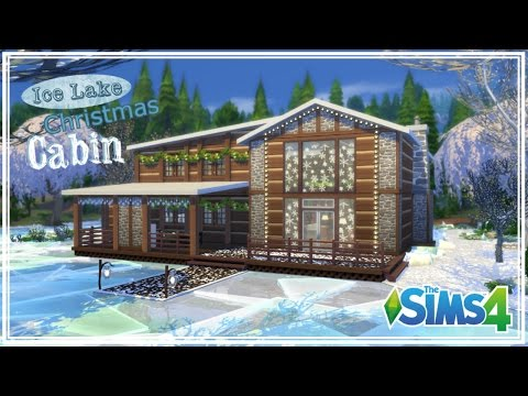 The Sims 4 - House Build - Ice Lake Christmas Cabin