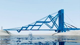 Great Mobile Folding Bridge Structure - Engineering Solution