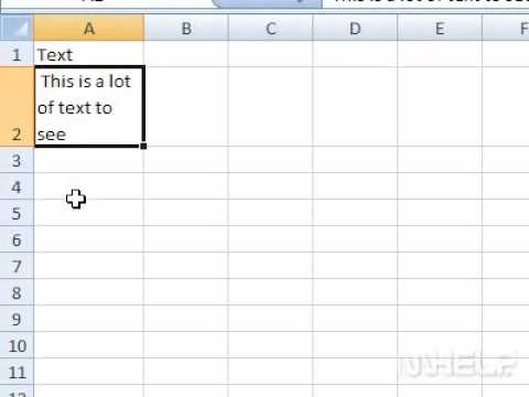How to display multiple lines of text within a cell in Excel