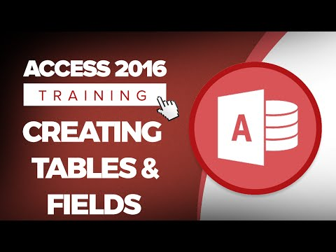 How to Create a Table and Fields in an Access 2016 Database