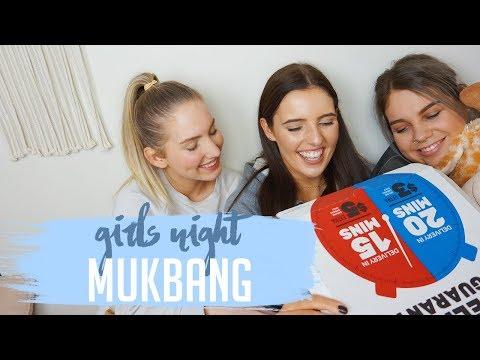 GIRLS NIGHT MUKBANG | BOYS & RELATIONSHIPS!