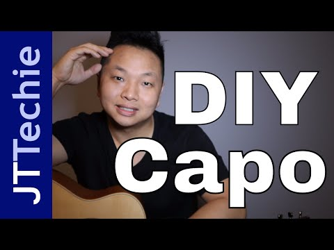 How to Make a DIY Capo with a Pen and Rubber Bands