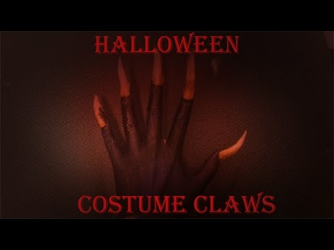 How to Make Cheap & Easy Claws // Halloween Costume Nails Tutorial