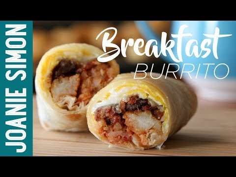 Bacon and Tater Tots Breakfast Burrito - wake up with the boys