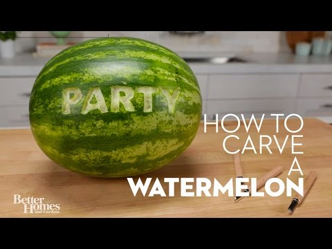How to Carve a Watermelon