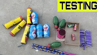 Testing Different types of Crackers | Testing Different types of firecrackers | Crackers Testing|