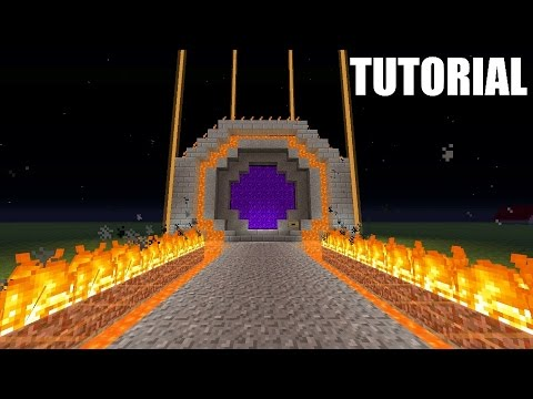 Minecraft Tutorial: How To Make An EPIC NETHER PORTAL!!!