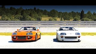 Forza Horizon 2: Fast and Furious - Brians Toyota SUPRA RZ vs. Pauls Toyota SUPRA | Drag Race