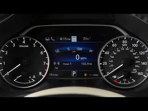2019 Nissan Murano - Instrument Brightness Control