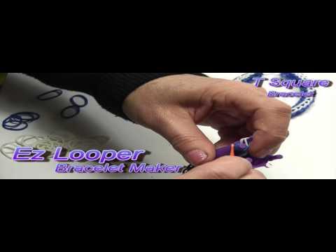 EZLooper_T Square Rubber Band Bracelet