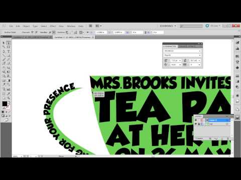 How to Design a Typographic Invitation Card Using Adobe Ilustrator