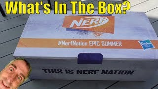 #NerfNation Epic Summer Fun 2019 - What's In The Giant Nerf Box??? Hint: Fortnite...