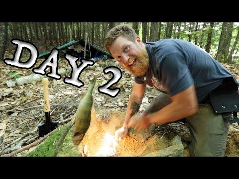 Catch and cook my first fish and Fire In Patagonia on Day 2 (87 DAYS Episode 3 )