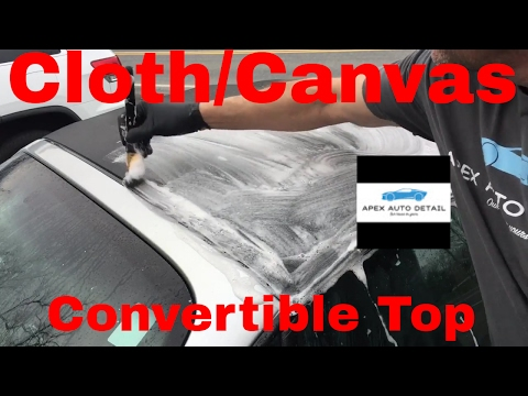 How to clean and protect a cloth/canvas convertible top(Angelwax Shield)