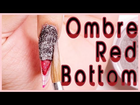 Louboutin Inspired Red Bottom Nails with Acrylic: Easy How To