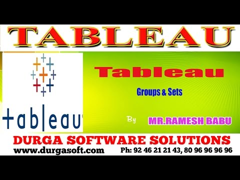 Tableau ||  Groups & Sets
