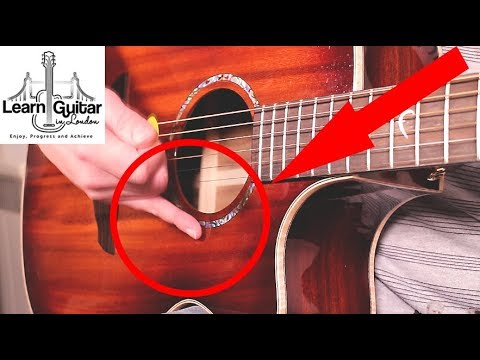 Picking Guitar Lesson - Top Tip For Beginners - (Increase Your String Accuracy)