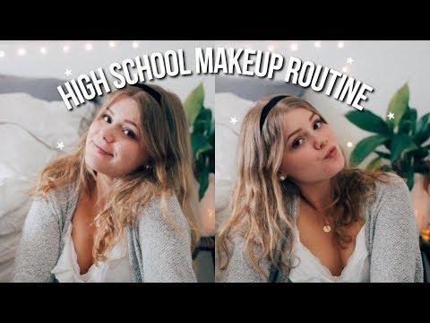 Simple Everyday Makeup Routine 2018 | high school junior (no foundation)