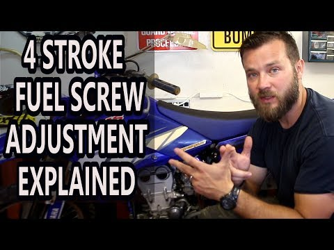 How to adjust idle on 4 stroke dirt bikes - fuel screw adjustment