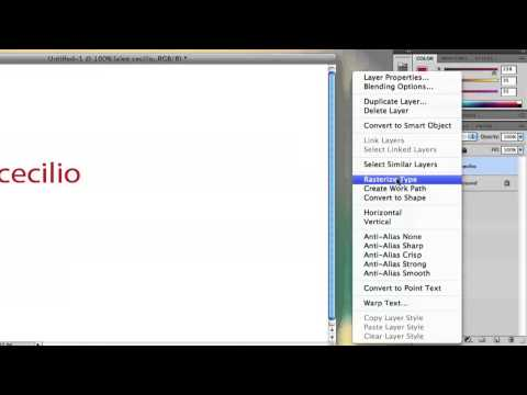 How to Reverse Text in Photoshop : Adobe Photoshop Tutorials