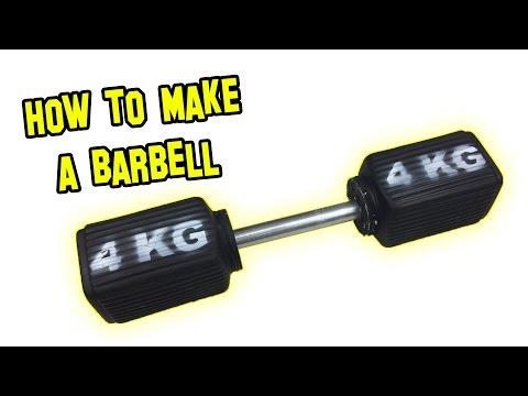 ✔ How to Make a dumbbells
