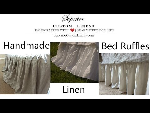 Linen Dust Ruffles, Linen Bed Skirt, Handmade by Superior Custom Linens