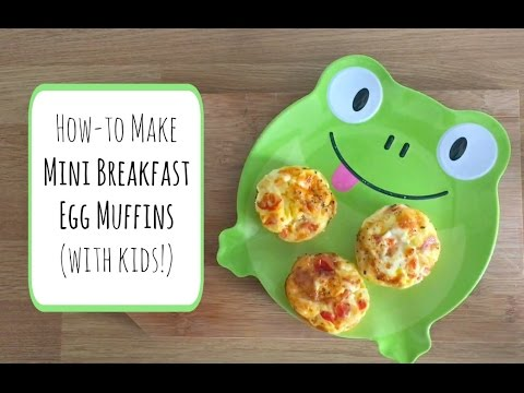 Recipe: How to make mini breakfast egg muffins (with children!) #ad