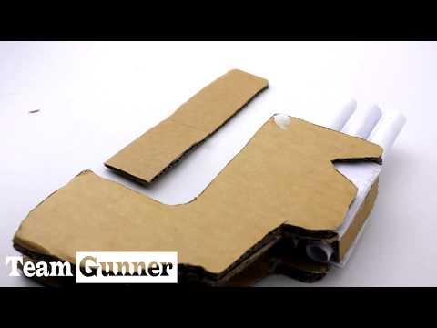 How to make Cardboard  Three barrel gun That Shoots