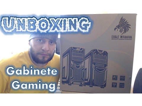 Gabinete Gaming Eagle Warrior Modelo CG-04R0 LED Verde ATX/Micro ATX Acrílico Tapa Unboxing ESPAÑOL