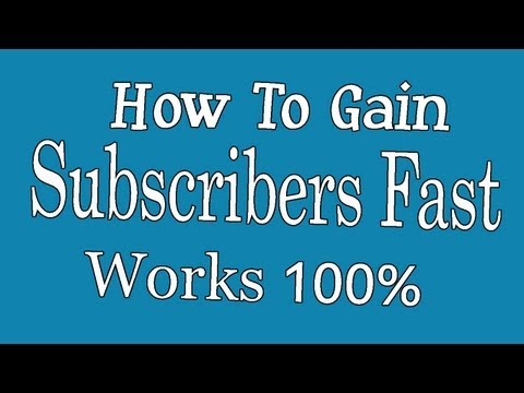 Secret to getting more Subscribers Fast - The Real Way