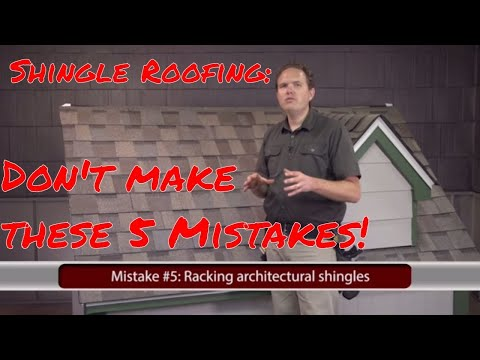 Installing Asphalt Shingles: 5 Common Mistakes to Avoid