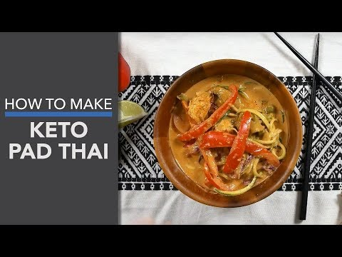 Keto Pad Thai Recipe (A 35-Minute Low-Carb Meal)